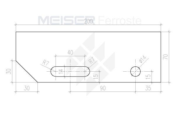 200mm es lépcső oldallemez 70 mm Model