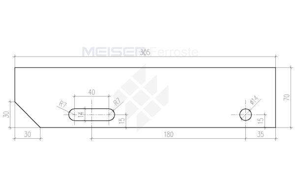 305mm es lépcső oldallemez 70 mm Model